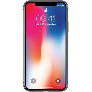 iPhone X d'Apple. Vue de face couleur gris sidéral