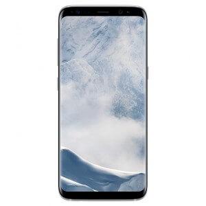 Smartphone Samsung Galaxy S8. Vue de face couleur argent polaire