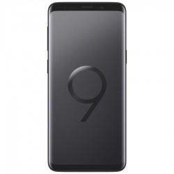 Samsung Galaxy S9. Vue de face couleur noir carbone