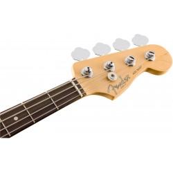 Zoom guitare basse électrique Fender professional precision. Vue rapprochée sur le manche