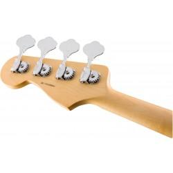 Zoom guitare basse électrique Fender professional precision. Vue rapprochée sur le manche, de dos