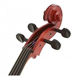 Gros plan sur la tête et le manche du violoncelle yamaha 4/4