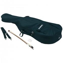 Pack pour le violoncelle yamaha 4/4 avec étui de rangement, archet et colophane