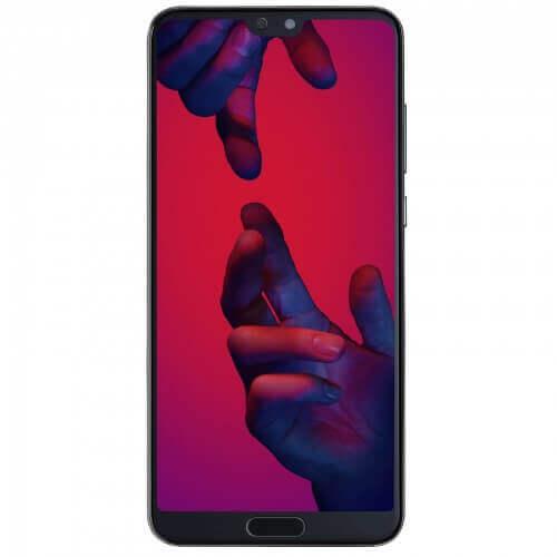 Smartphone Huawei P20 Pro. Vue de face couleur noire
