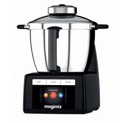 Robot cuiseur Magimix Cook expert. Couleur noir. Vue de profil.