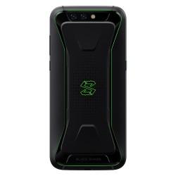 Smartphone Xiaomi Black shark 128Go. De couleur noir et vert. Vue de dos.