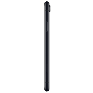 Smartphone Apple. iPhone Xr de couleur noir, vue de profil.