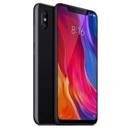 Smartphone Xiaomi Mi 8 128Go. De couleur Noir. Vue de 3/4.