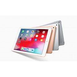 Tablette Apple iPad 6 2018. Multi coloris. Vues recto et verso en éventail.