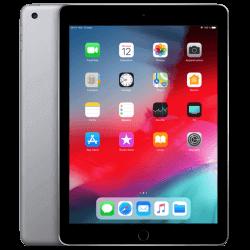 Tablette Apple iPad 6 4G. De couleur gris sidéral. Vues recto et verso.