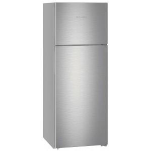 Réfrigérateur Liebherr gris. Vue de face.