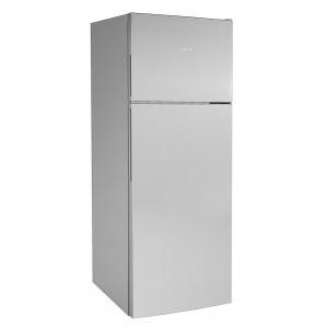 Réfrigérateur Bosch gris. Porte fermée, vue de 3/4.