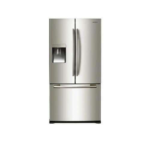 Réfrigérateur Samsung gris. Multi-portes, vue de face.