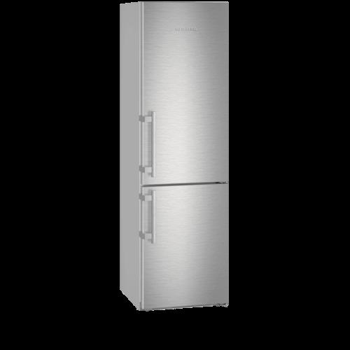 Réfrigérateur Liebherr gris. Vue de face