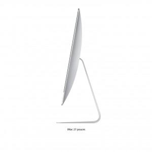 Ordinateur fixe Apple iMac 21.5 pouces. Couleur Gris. Vue de profil.