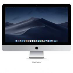 Ordinateur fixe Apple iMac 21.5 pouces. Couleur Gris. Vue de face, écran allumé.