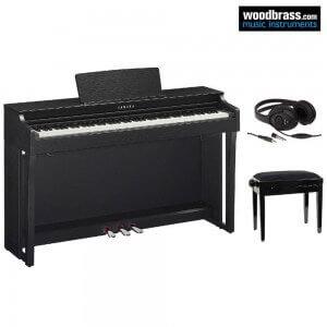 Pack piano numérique Yamaha série Clavinova, tabouret et casque audio