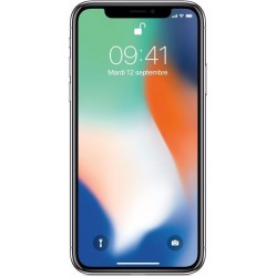 iphone X argent reconditionné vue de face