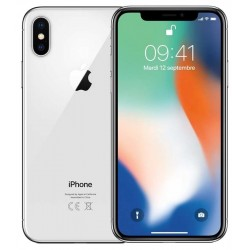 iphone X argent reconditionné vue 360°