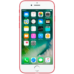 iphone 7 rouge reconditionné vue de face