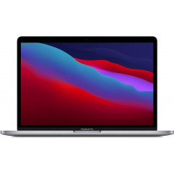 """Apple MacBook Pro 2020 Argent 13"""" Puce Apple M1 CPU 8 cœurs GPU 8 cœurs 256Go en location pas cher avec Uz'it"""
