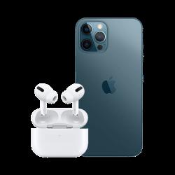 Location APPLE iPhone 12 Pro Max bleu pacifique pas cher en location et airpods pro